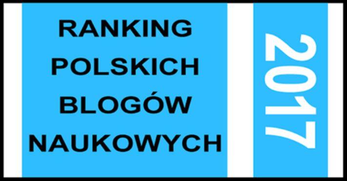 Ranking blogów naukowych w Polsce 2017