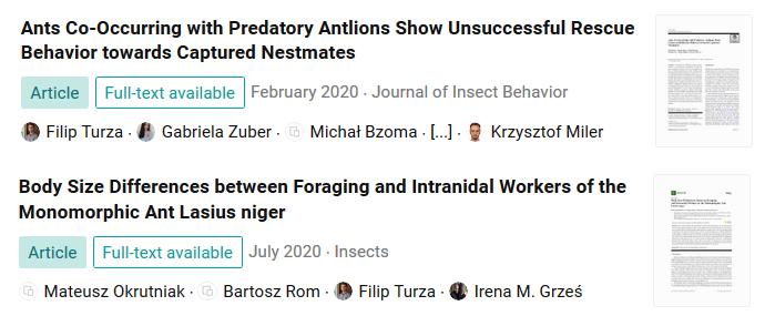 2 nowe publikacje o mrówkach