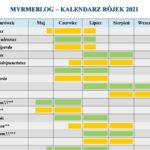 Kalendarz rójek 2021